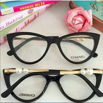 Armação De Óculos De Grau Chanel C/ Pérola Haste Frete Free