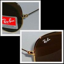 Óculos Aviador 3024 Dourado Lentes Marrom