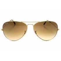 Rayban Aviador Rb 3025 3026 Dourado E Lente Marrom Original