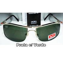 Óculos Demolidor 8012 Prata Lentes Verdes