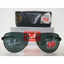Oculos De Sol Aviador 22028 Grafite Lente Verde G15