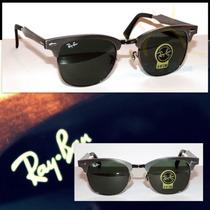 Óculos Clubmaster 3507 Aluminium Grafite Lentes Verdes