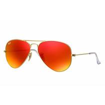 Ray Ban Rb3025 112/69 Gold Lentes Orange Espelhadas 58