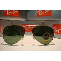 Óculos De Sol Ray Ban Rb3026 Aviador Lente Verde