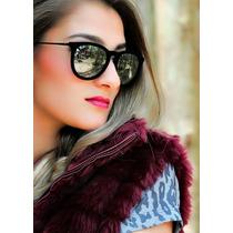 Óculos De Sol Erika Velvet Veludo Espelhado Tipo Ray Ban