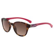 Óculos Sol Calvin Klein Ckj 739s Marrom/ Rosa Exclusivo Top