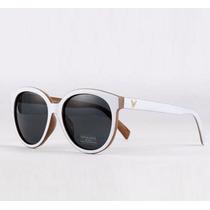 Óculos De Sol Luxo Para Mulher Branco Feminino Importado