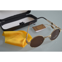 Óculos Armação Lentes Redondas Metal Unissex John Lennon