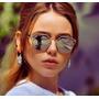 Óculos De Sol Feminino Modelo So Real, Espelhado, Vintage