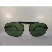 Oculos De Sol 3303 Caçador Grafite Lente Verde G15