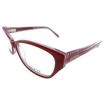 Óculos De Grau Feminino Guess Retrô Vermelho E Rosa