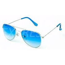 Óculos De Sol Estilo Aviador Masculino Uv400