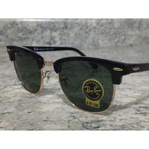 Oculos De Sol Ray Ban Clubmaster Aluminium Original Bronze!!