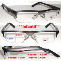 Armação Infantil Em Alumínio Para Óculos De Grau P/ Crianças