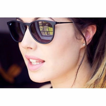 Oculos Sol Ray Ban Erika Velvet Rb 4171 Preto Lente Degrade