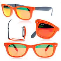 Oculos Rayban 4105 Wayfarer Dobra Espelhado + Frete + Brinde