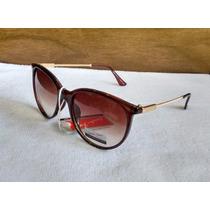 Óculos De Sol Feminino Retrô Degradê Gatinha - Uv 400