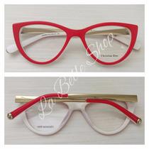 Armação Óculos De Grau Feminino Gatinha Cd3290