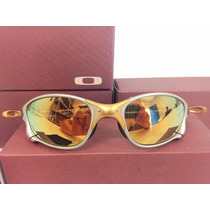Óculos Juliet Double X Metal 24 K Lente Dourada Polarizada
