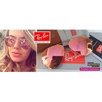 Oculos Ray Ban 3025-3026 Rose Aviador + Brinde