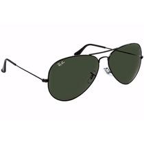 Oculos De Sol Aviador Rb3025 ( Grafite Com Lentes Pretas )