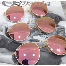 Óculos Rayban Round Metal Espelhado Rb3447 Várias Cores