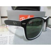 Óculos Rb2140 Wayfarer Grande Preto -branco Fosco Vidro