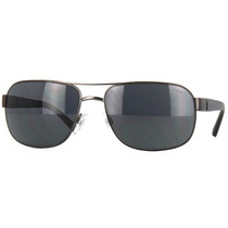 Óculos De Sol Polo Ralph Lauren Preto Com Lente Cinza