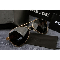 Óculos De Sol Aviador Polarizado Police 100%uvauvb Masculino