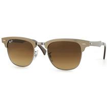 Óculos Sol Rayban Clubmaster Marron Aluminio