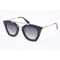 Oculos De Sol Pra.da Spr09qs Gatinho Luxo Geometric Promoção