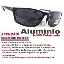 Óculos De Sol Polarizado Alumínio Preto + Molas Xtr Exclusiv
