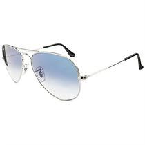 Óculos De Sol Aviador Ray Ban Unissex Metal Prateado