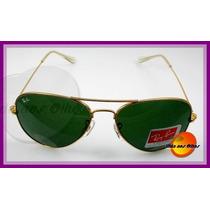Óculos De Sol Aviador Rb3026 Tamanho Grande, Várias Cores