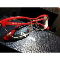 Armação Prada Feminina Em Vermelho Para Oculos De Grau