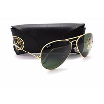 Óculos De Sol Ray-ban Aviador Verde Metal Ii 62/14 - Rb3026