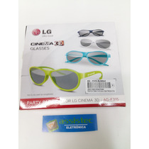 Oculos Lg 3d Original Ag-f315 Kit 4 Oculos Cinema (novo)