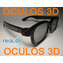 Kit Com 4 Óculos 3d Passivo Real D Polarizado P/ Tv Cinema3d