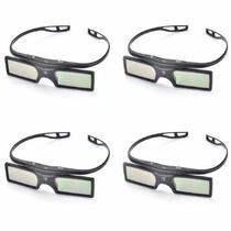 4 Óculos 3d Dlp Link Ativo Para Projetores Optoma Benq Nec
