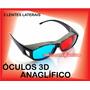 Óculos 3d Nvidia Anaglífico Red & Blue Games Filmes Tv 3d