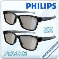 Óculos Pta436 Dual Gaming Nas Tvs Philips Easy 3d Original