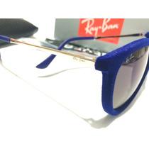 Óculos De Sol Ray Ban Erika Azul Escuro