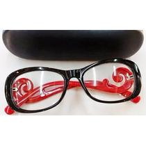 Armação De Grau Feminina Oculos Baroquê Cores - Frete Grátis