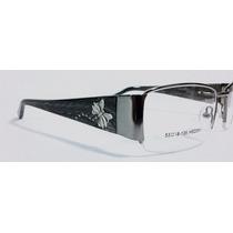 Armação Para Óculos De Grau Feminina Cinza Preto Ana Mod304
