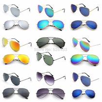 Óculos De Sol Aviador Moda 2016 Várias Cores Lindos Novos