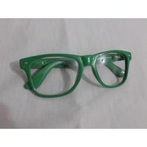 Armação Oculos Wayfarer Retrô E Lentes Transparentes
