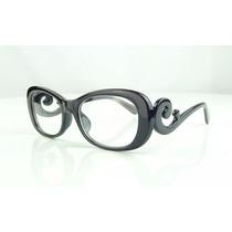 Armação Óculos De Grau Preta Super Fashion Chique - A782