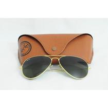 Óculos Ray Ban Aviador Rb3025 - Dourado/lentes Verde Degradê