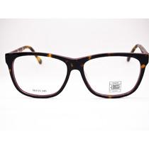 Armação Para Óculos Lougge Acetato Marrom Tartaruga E Vinho