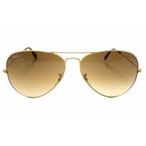 Aviador Rayban 3025 3026 Lente Marrom Com Dourado Original